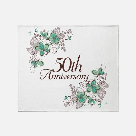 50th Anniversary Keepsake Throw Blanket