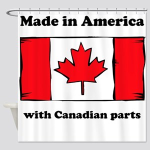 Made In America With Canadian Parts Shower Curtain
