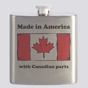 Made In America With Canadian Parts Flask