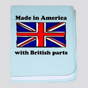 Made In America With British Parts baby blanket