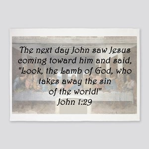 John 1:29 5'x7'Area Rug