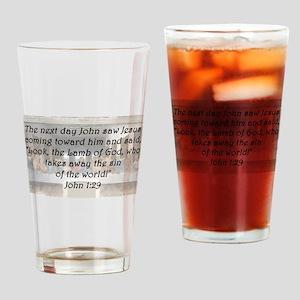 John 1:29 Drinking Glass