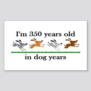 50 dog years birthday 2 Sticker