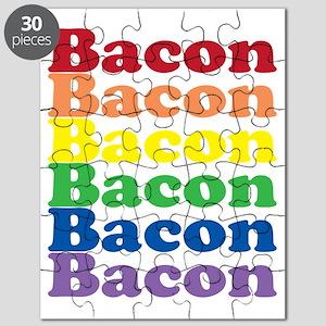 funny bacon text rainbow Puzzle
