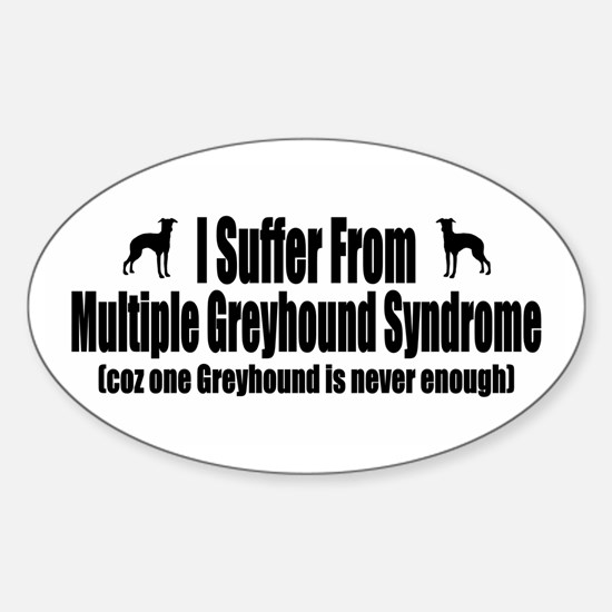 Greyhound Sticker (Oval)