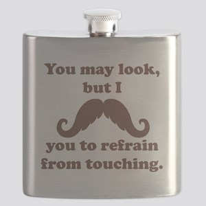 I Mustache You To Refrain From Touching Flask