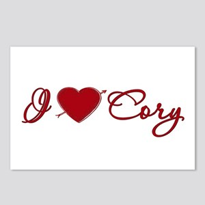 I heart Cory Postcards (Package of 8)