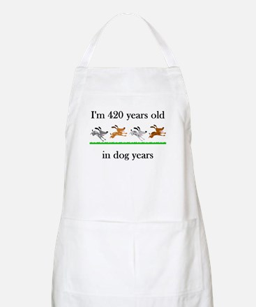 60 birthday dog years 1 Apron
