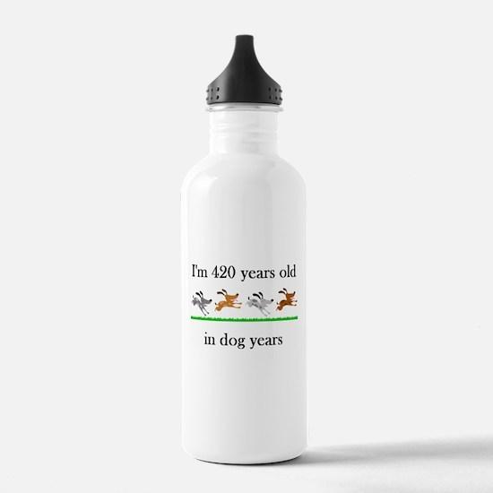 60 birthday dog years 1 Water Bottle