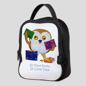 So Many Books So Little Time Neoprene Lunch Bag
