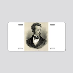 Edwin Forrest - 1860 Aluminum License Plate