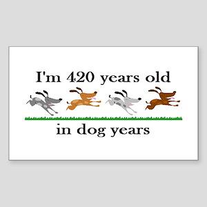 60 birthday dog years 2 Sticker