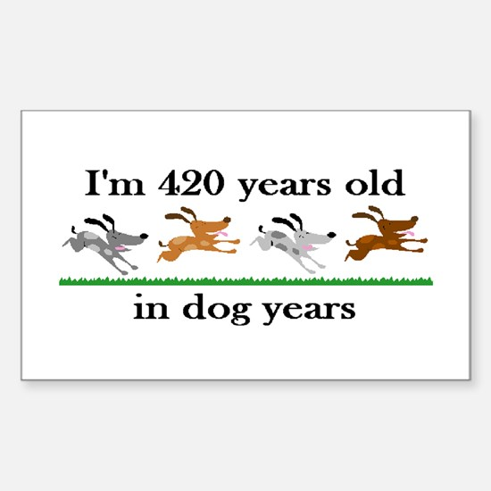 60 birthday dog years 2 Decal
