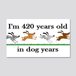 60 birthday dog years 2 Wall Decal