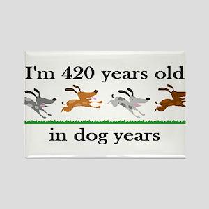 60 birthday dog years 2 Rectangle Magnet