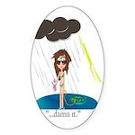 Rainy Day at the Beach Sticker