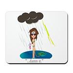 Rainy Day at the Beach Mousepad