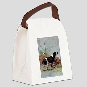 Springer Spaniel Watercolor Canvas Lunch Bag