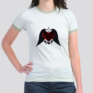 Black Winged Goth Heart T-Shirt