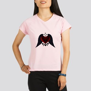 Black Winged Goth Heart Peformance Dry T-Shirt