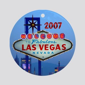 2007 Las Vegas Personalized Ornament (Round)
