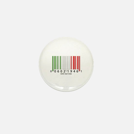 Barcode Italian Flag Mini Button