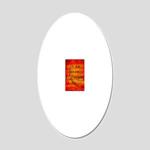 Burning Mockingjay 20x12 Oval Wall Decal