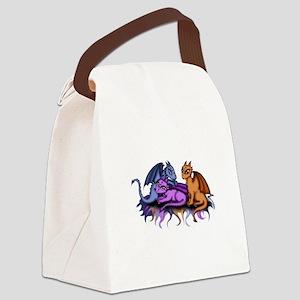 3 Dragonbabys Canvas Lunch Bag