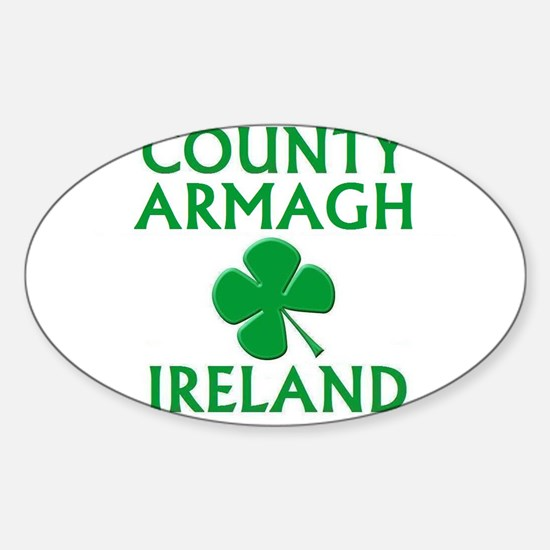 County Armagh, Ireland Oval Decal