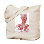 Hawkwing Hippogriff red sepia Tote Bag