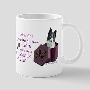 Border Collie (White & Black) Mug