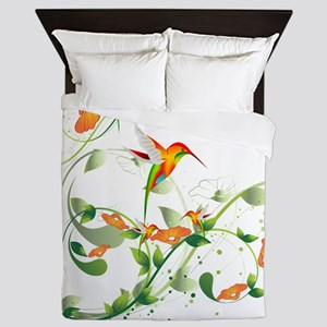 Hummingbird Morning Queen Duvet
