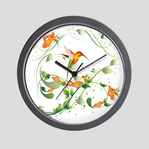 Hummingbird Morning Wall Clock