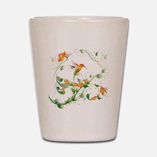 Hummingbird Morning Shot Glass