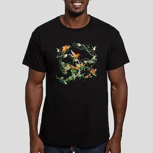 Hummingbird Morning Men's Fitted T-Shirt (dark)