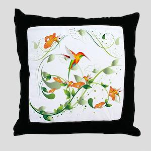 Hummingbird Morning Throw Pillow