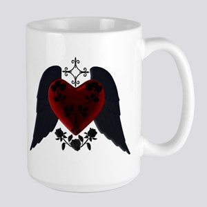 Black Winged Goth Heart Mug