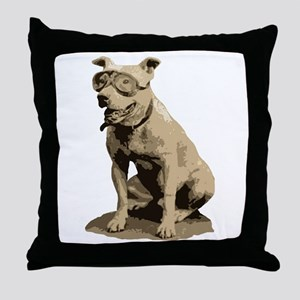 Vintage Pit Bull Throw Pillow