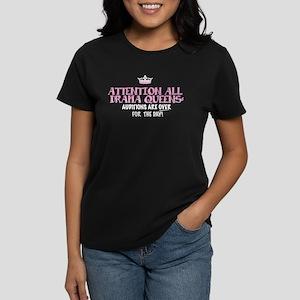 ATTENTION DRAMA QUEENS: Women's Dark T-Shirt