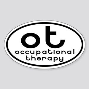 ot occupational therapy Oval Sticker