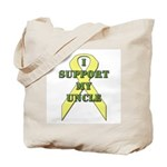 I Support My Uncle Tote Bag