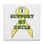 I Support My Uncle Tile Coaster