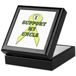 I Support My Uncle Keepsake Box