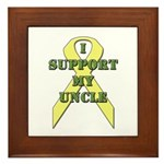 I Support My Uncle Framed Tile