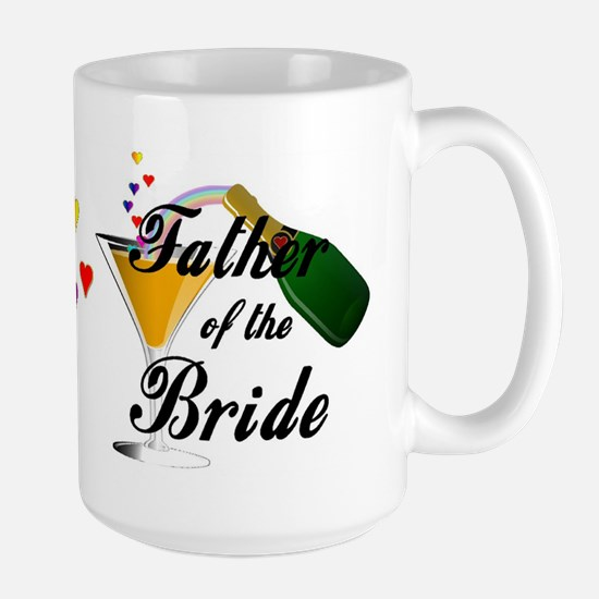 Father of the Bride Champagne Large Mug