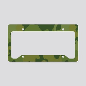 Green army camo pattern License Plate Holder
