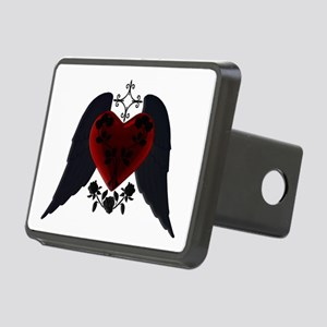 Black Winged Goth Heart Hitch Cover