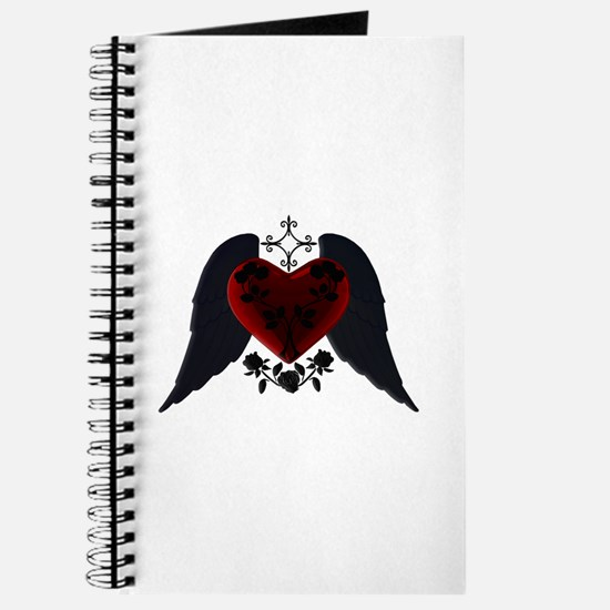 Black Winged Goth Heart Journal