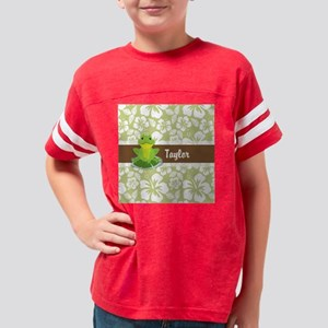 Green Frog on Tropical Sage G Youth Football Shirt