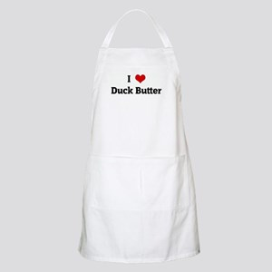 I Love Duck Butter BBQ Apron